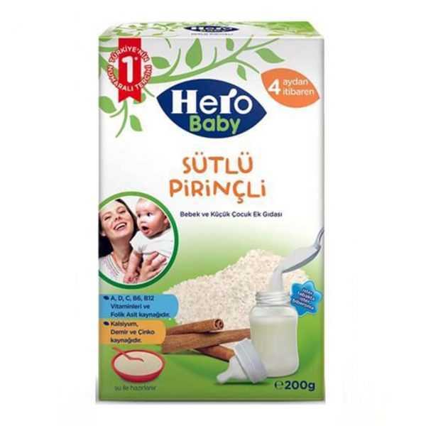 غذای کمکی فرنی شیربرنج و دارچین هروبیبی Hero Baby