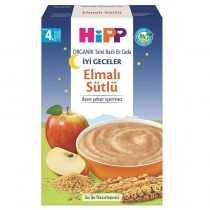 غذای کمکی غلات و سیب و شیر ارگانیک هیپ HIPP مخصوص شب