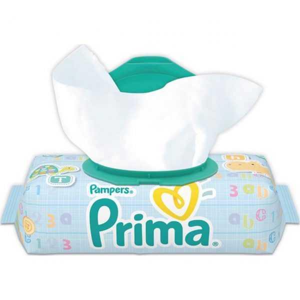 دستمال مرطوب 64 برگی درب دار پریما پمپرز (prima)