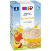 غذای کودک ارگانیک شیر موز، هلو و غلات هیپ Hipp