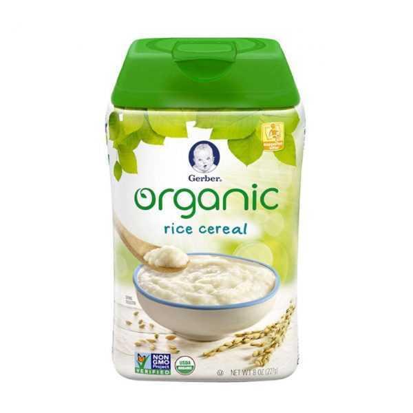 bc47bd67cf58cb47225089bf925fe89d 600x600 - سرلاک (غذای کمکی ) ارگانیک برنج بدون شیر گربر GERBER
