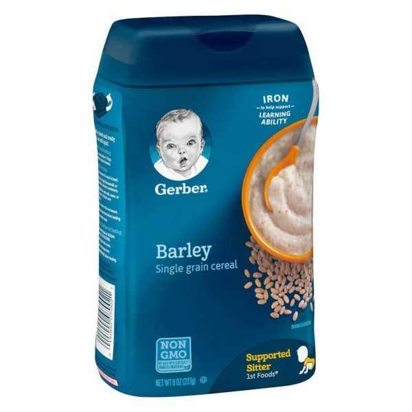 gerber 1st foods barley single grain baby cereal 8 ounce 6c2c0bec.pt01.zoom 1  600x600 - سرلاک (غذای کمکی ) جو  بدون شیر گربر GERBER