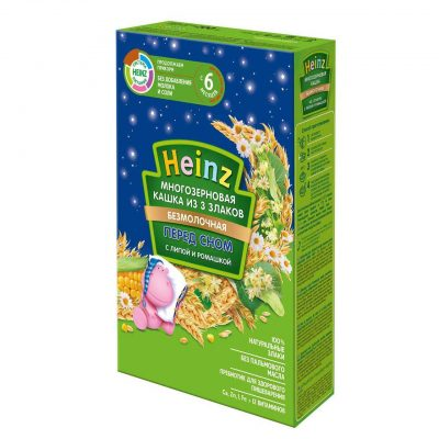 سرلاک (غذای کمکی ) سه غله و بابونه مخصوص شب هاینز HEINZ