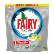 قرص ماشین ظرفشویی پلاتینوم 72 تایی فیری (Fairy)