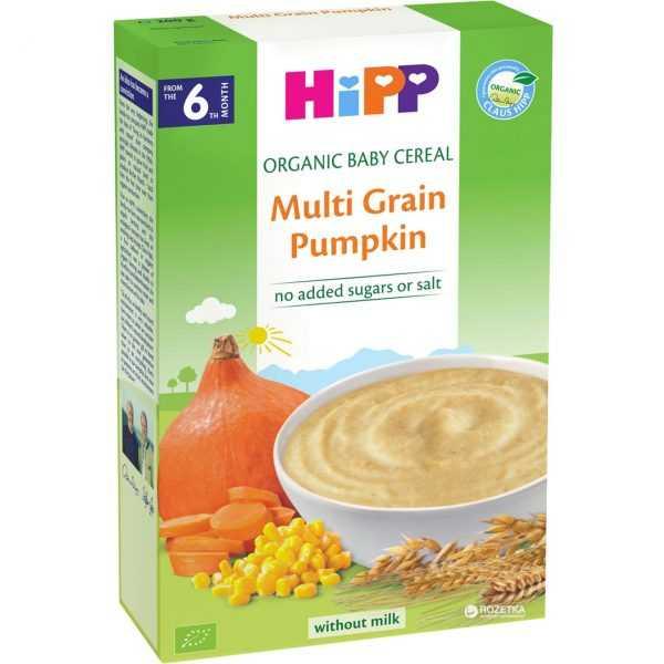 سرلاک بدون شیر ارگانیک با غلات و کدو تنبل هیپ Hipp