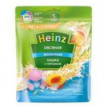 سرلاک(غذای کمکی ) بلغور جو دوسر با شیر و هلو و امگا 3 هاینز HEINZ