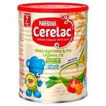 سرلاک مخلوط سبزیجات و برنج به همراه شیر نستله Nestle