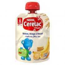 پوره ساندیسی موز و پرتقال با بیسکویت نستله Nestle Cerelac