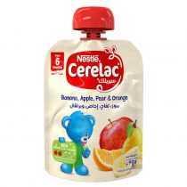 پوره ساندیسی موز و سیب و گلابی و پرتقال نستله Nestle Cerelac