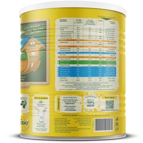 شیر خشک تقویتی 900 گرمی نیدو نستله Nido Nestle