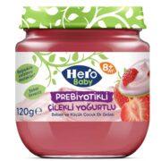 پوره ماست و توت فرنگی پروبیوتیک هرو بیبی Hero Baby