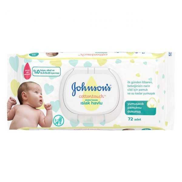 دستمال مرطوب ضد حساسیت کودک 72 عددی جانسون Johnson