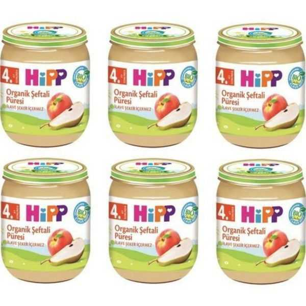 پکیج اقتصادی پوره ارگانیک هلو گلابی هیپ HIPP
