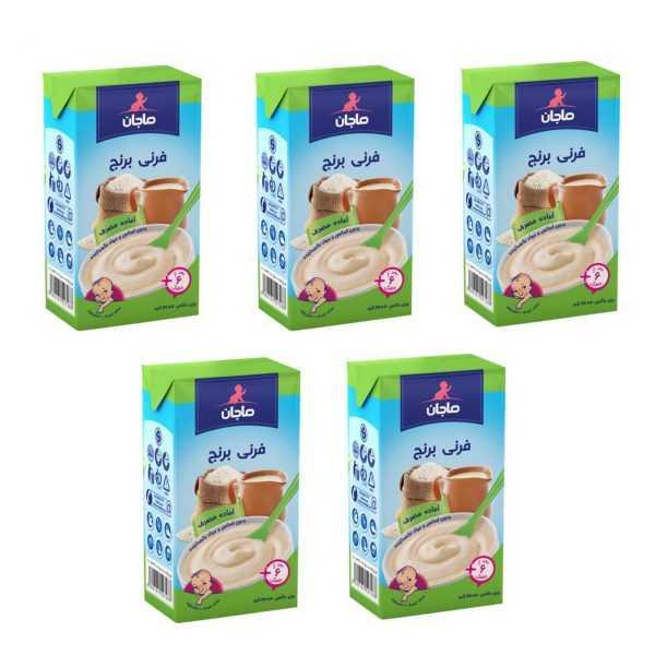 پکیج 5 عددی غذای کودک فرنی برنج ماجان Majan