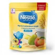 سرلاک غلات با هلو و گلابی با شیر نستله Nestle