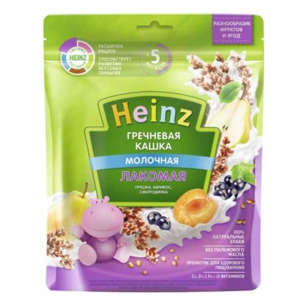 سرلاک گندم سیاه گلابی زردآلو توت با شیر هاینز Heinz
