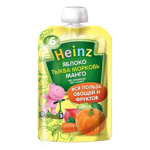 پوره ساندیسی سیب ، کدو تنبل ، هویج ، انبه هاینز Heinz