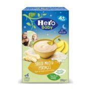 غذای کمکی فرنی برنج همراه موز با شیر مخصوص شب هروبیبی hero baby