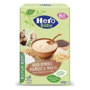 غذای کمکی هشت غله همراه با پنیر و شیره انگور با شیر هرو بیبی Hero Baby