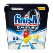 قرص ماشین ظرفشویی لیمویی فینیش 50 عددی مدل Finish Quantum Ultimate