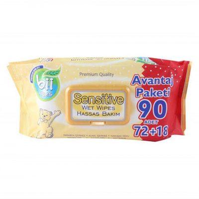 دستمال مرطوب بی ویپس برای پوست های حساس 90 عددی Bii Wipes