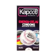 کاندوم تاخیری انرژی زا کاپوت 12 عددی Kapoot Energy + Delay