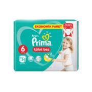 پوشک شورتی بچه سایز 6 پریما 34 عددی Prima
