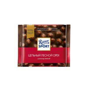 شکلات تلخ فندوقی 100 گرمی ریتر اسپرت Ritter Sport