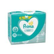 پکیج سه تایی دستمال مرطوب ضد حساسیت 52 عددی پمپرز پریما Prima