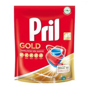 قرص ماشین ظرفشویی 45 تایی گلد پریل Pril Gold