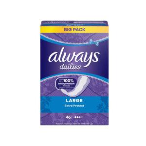 پد روزانه آلویز مدل Extra Protect سایز بزرگ بسته 46 عددی